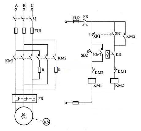 如下图所示为一种异步电动机反接制动控制电路